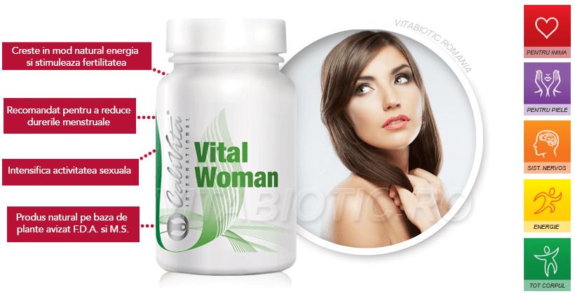 banner produs vital woman calivita vitabiotic