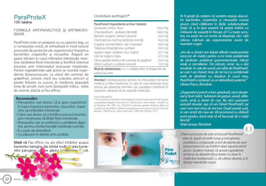 prospect paraprotex calivita, indicatii si ingrediente