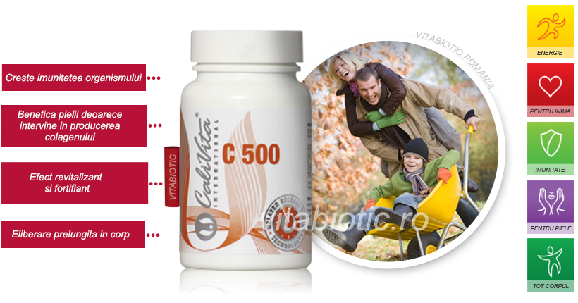 vitamina c 500 calivita vitabiotic