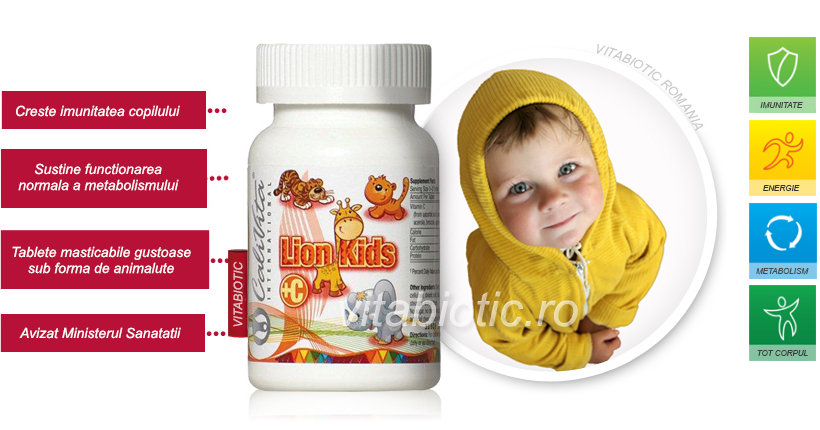 lion kids vitamina c calivita vitabiotic