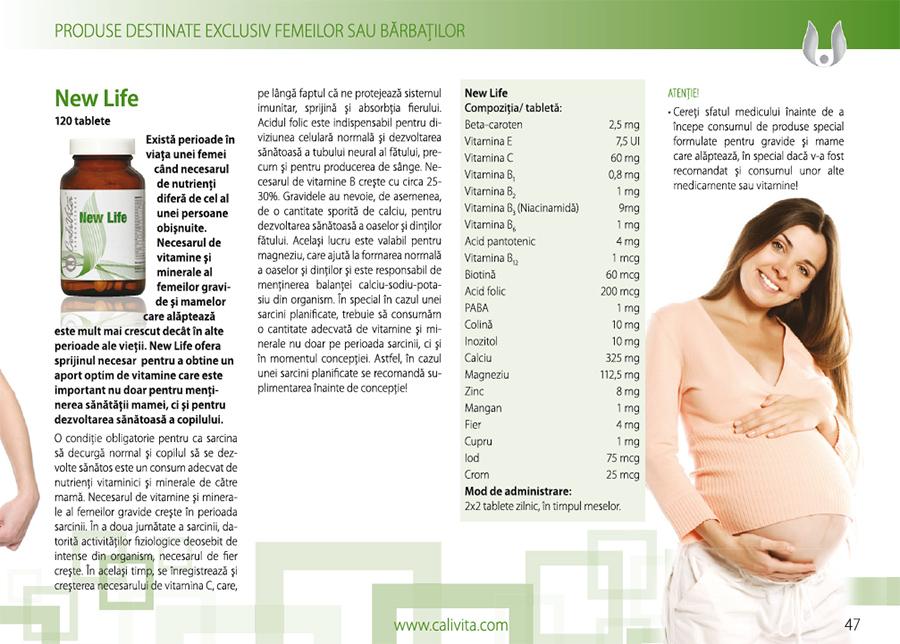 prospect new life calivita vitamine prenatale