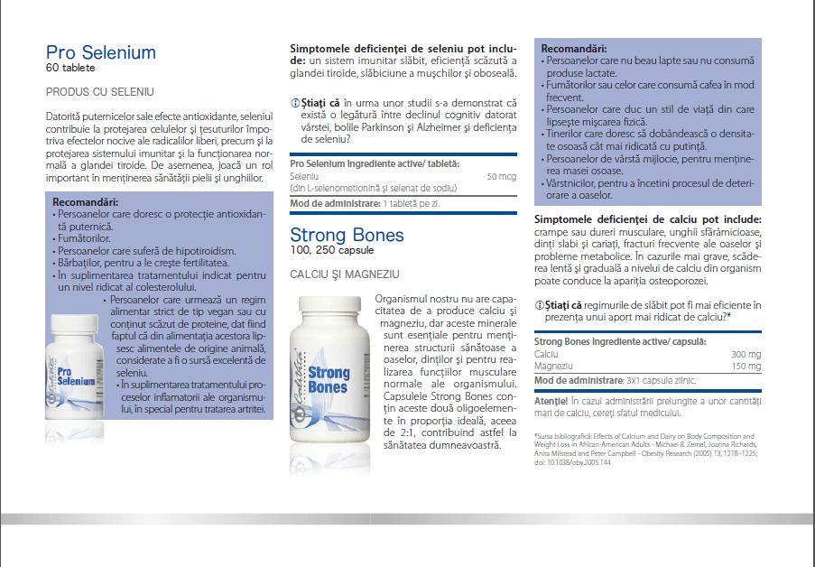 prospect pro selenium calivita, ingrediente, indicatii