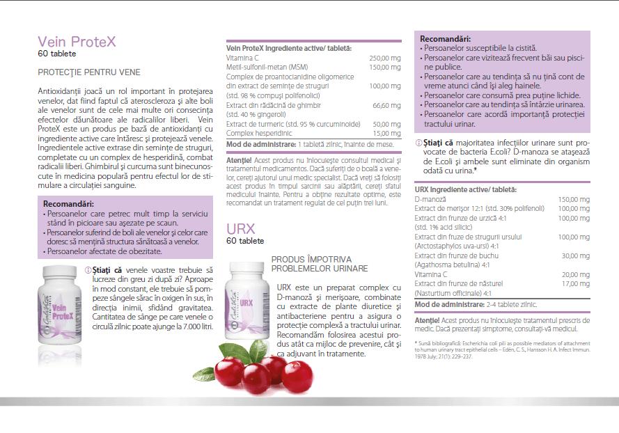 prospect urx calivita, indicatii,ingrediente