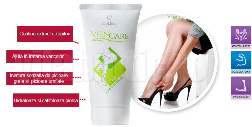 Vein care calivita cu extract de lipitori