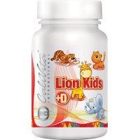 Lion Kids +D (90 tablete masticabile) - multivitamine pentru copii
